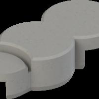 Rasenkante ohne Endstück Basisstein granitgrau
