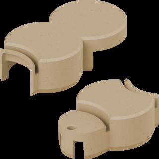 BIO-Rasenkante Anschlussstein Farbe sand