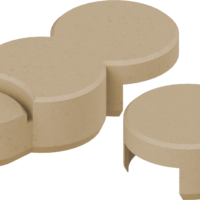 Rasenkante plus Endstück Basisstein Farbe sand