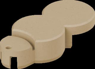 Rasenkante ohne Endstück Basisstein Farbe sand
