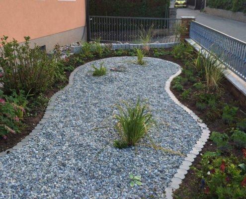 BIO-Rasenkante Abgrenzung Steine