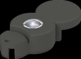 BIO-Rasenkante mit LED anthrazit