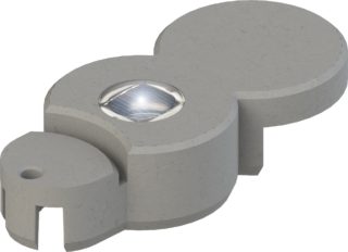 BIO-Rasenkante mit LED granitgrau