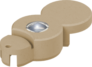 BIO-Rasenkante mit LED Farbe sand
