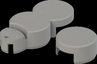 Rasenkante plus Endstück Basisstein Farbe granitgrau
