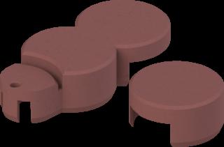 Rasenkante plus Endstück Basisstein Farbe ziegelrot