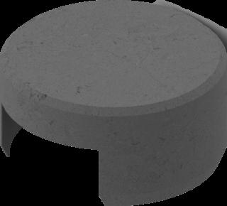 Endkappe granitgrau